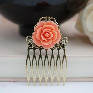 Bridal Hair comb Bridesmaids Gift W..
