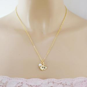 Initial necklace, Personalized Neck..