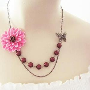 Sachet Pink with Brown Chrysanthemu..
